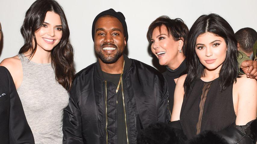 Kendall Jenner, Kanye West, Kris Jenner und Kylie Jenner