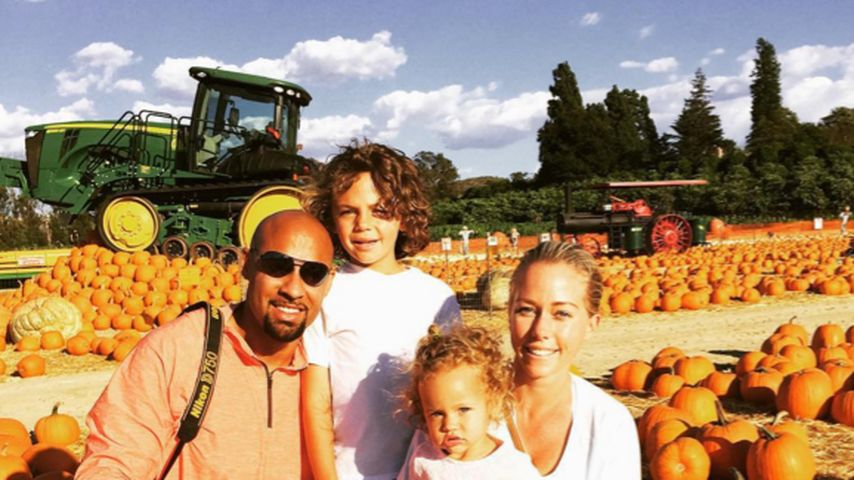 Ehe gerettet? Kendra Wilkinsons Familienidylle im Kürbisbeet