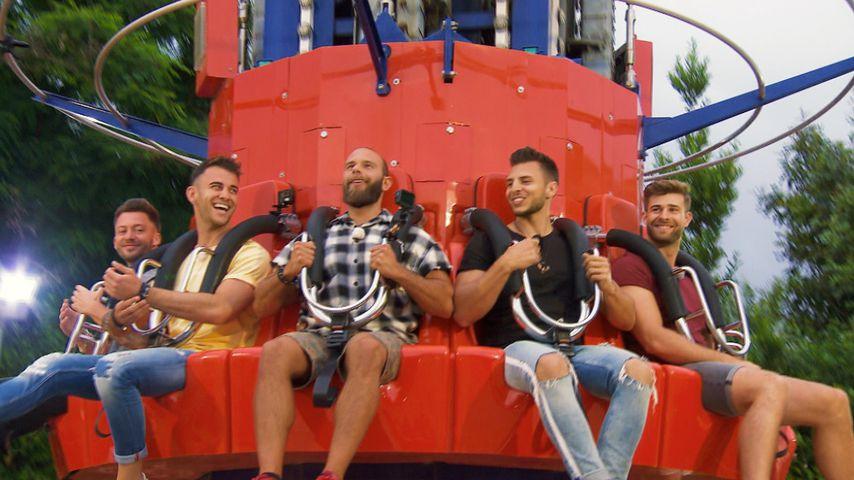Keno, Serkan, Oggy, Tim und Marco auf dem Rummel-Date