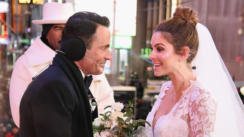Keven Undergaro und Maria Menounos am Times Square an Silvester