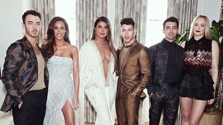 Mega-Ausschnitte und Mini-Kleid: Jonas-Girls hot bei Grammys