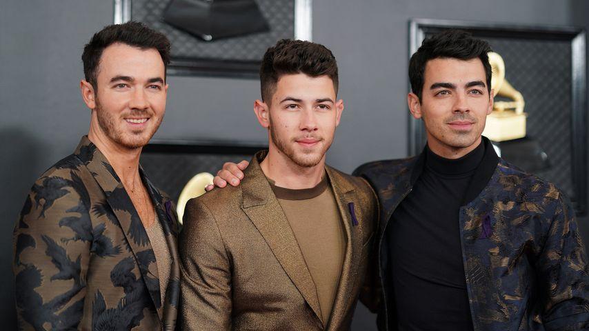 Kevin, Nick und Joe Jonas bei den Grammys in LA im Januar 2020