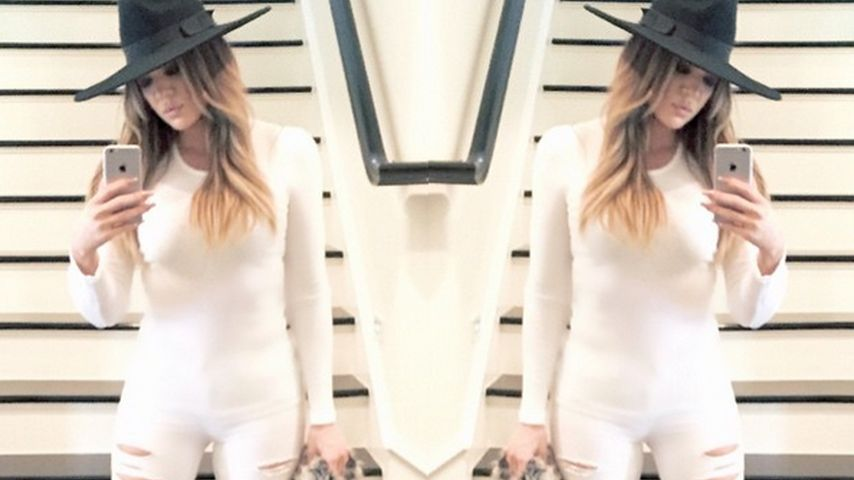 Weißer Camel Toe: Khloe Kardashians Jeans-Fauxpas