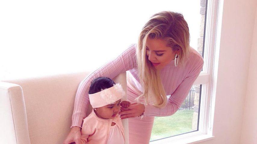 Khloe Kardashian mit ihrer Tochter True Thompson