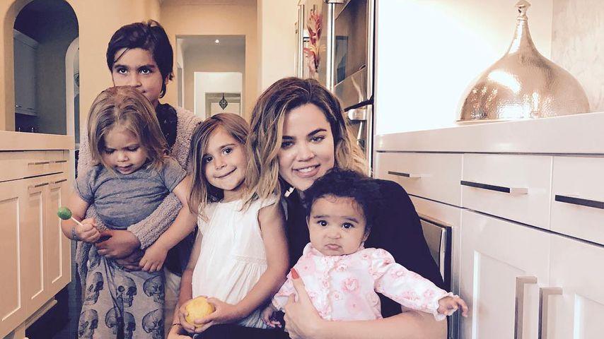 Statt eigener Kids: Khloe vergnügt sich mit Nichten & Neffen