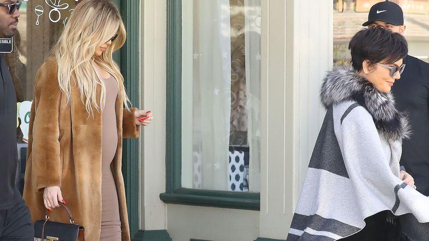 Khloe Kardashian und Kris Jenner beim Verlassen eines Baby-Ladens in L.A.