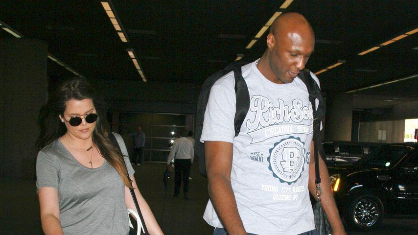 Khloe Kardashian und Lamar Odom am Flughafen in Las Vegas