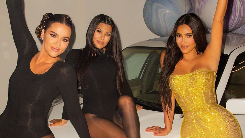 Khloé, Kourtney und Kim Kardashian im Oktober 2020