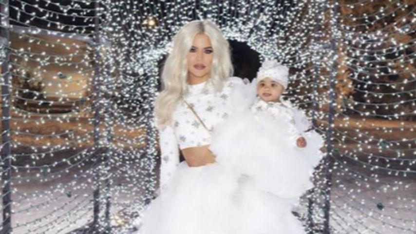 Khloe Kardashian und True Thompson an Weihnachten 2018