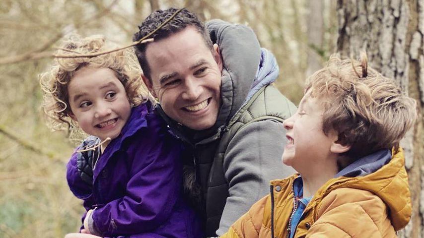 Kieran Hayler mit seinen Kindern Bunny und Jett im Februar 2020
