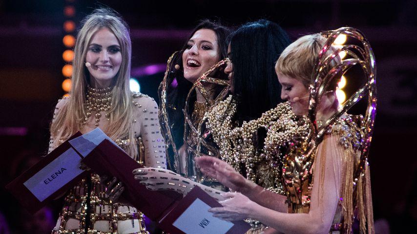 "Kim Hnizdo, Fata Hasanović und Elena Carrière beim ""Germany's Next Topmodel""-Finale auf Mallorca"