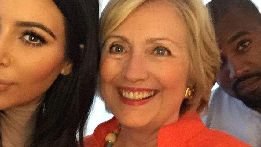 Kim Kardashian, Hillary Clinton und Kanye West