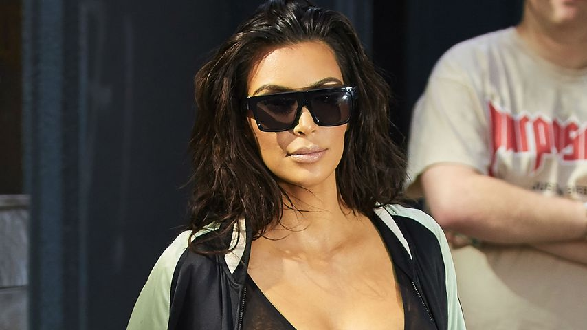 Nippel-Show im Lodder-Look: Kim Kardashian tut's wieder!
