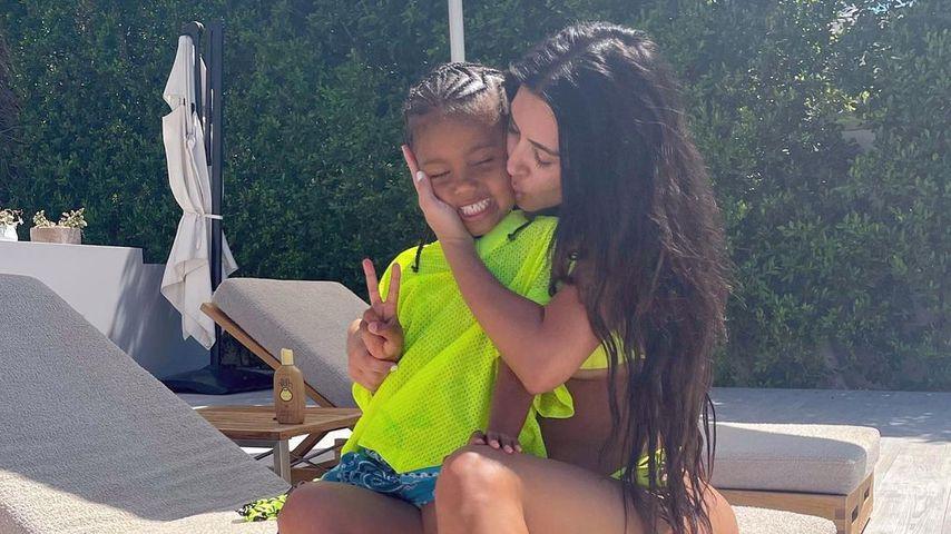 Kim Kardashian und Saint West, 2021