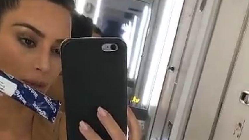 Test im Flieger: Ist Kim Kardashian etwa wieder schwanger?