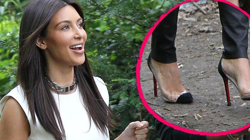 Wanderschuhe vergessen, Kim Kardashian?