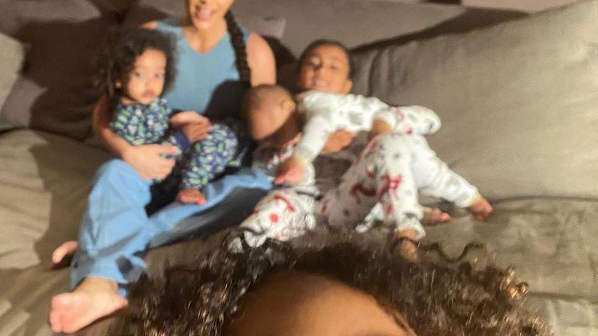 Kim Kardashian und ihre Kinder Psalm, Saint, Chicago und North im Mai 2020