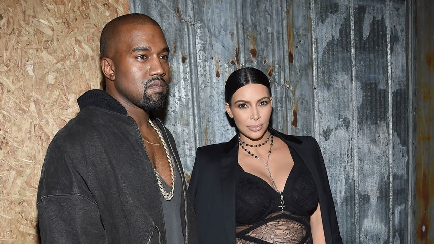 Kim Kardashian und Kanye West bei der New York Fashion Week 2015