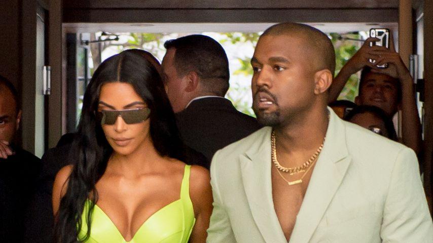 Kim Kardashian und Kanye West in Miami