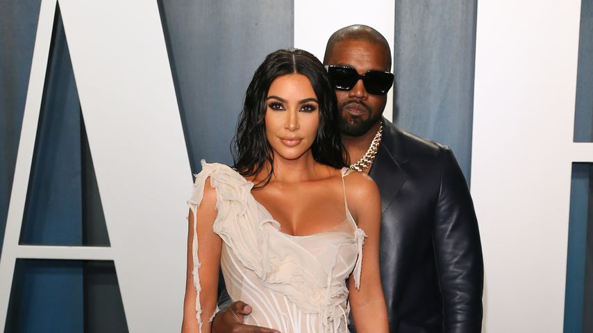 Kim Kardashian und Kanye West bei der Vanity Fair Oscar Party 2020