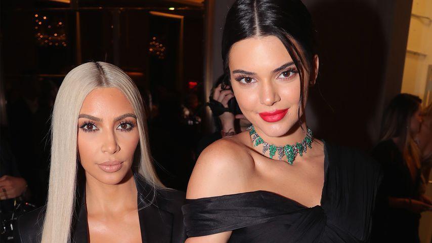 Kim Kardashian und ihre Halbschwester Kendall Jenner