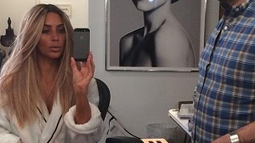 Kim Kardashian überglücklich: Sie ist wieder blond