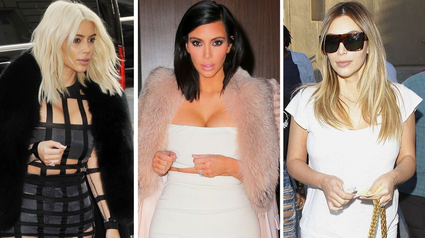 Kim Kardashian: Eine Haar-Evolution in Bildern
