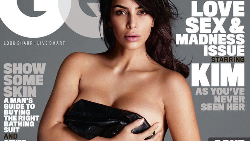 Natürlich nackt! Kim Kardashian feiert ihr 1. GQ-Cover