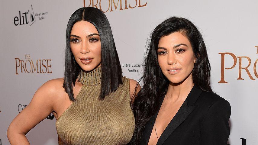 Kim Kardashian West und Kourtney Kardashian bei einer Filmpremiere in Hollywood
