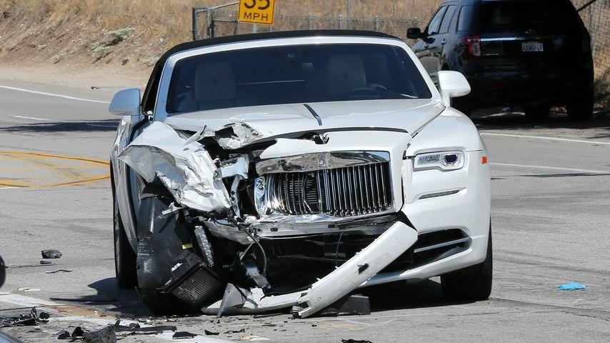 Kris Jenners Rolls-Royce nach dem Unfall in Calabasas