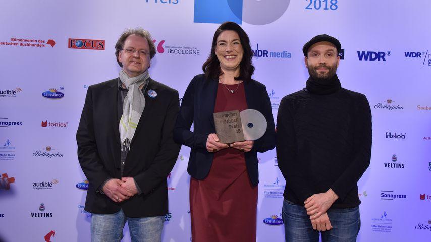 Klaus Strenge, Christiane von Beuningen und Marc-Uwe Kling in Köln 2018