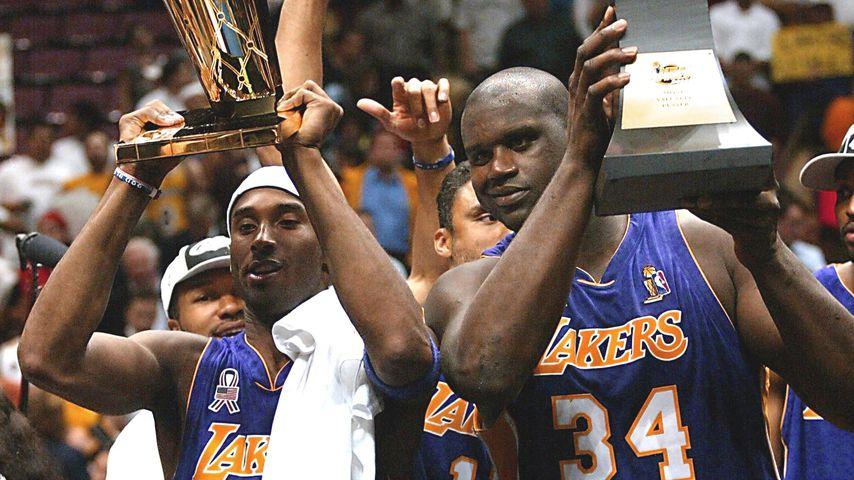 Kobe Bryant und Shaquille O'Neal beim NBA-Finale 2002
