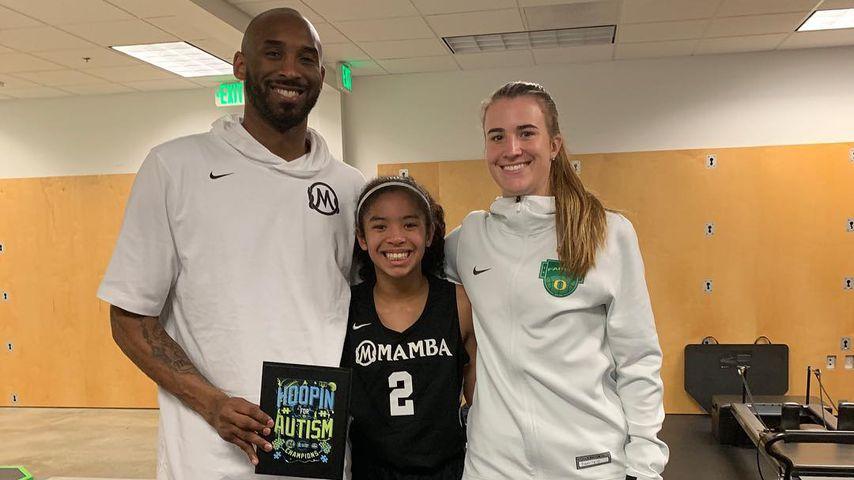 Kobe Bryant zusammen mit Tochter Gianna und Basketballspielerin Sabrina Ionescu