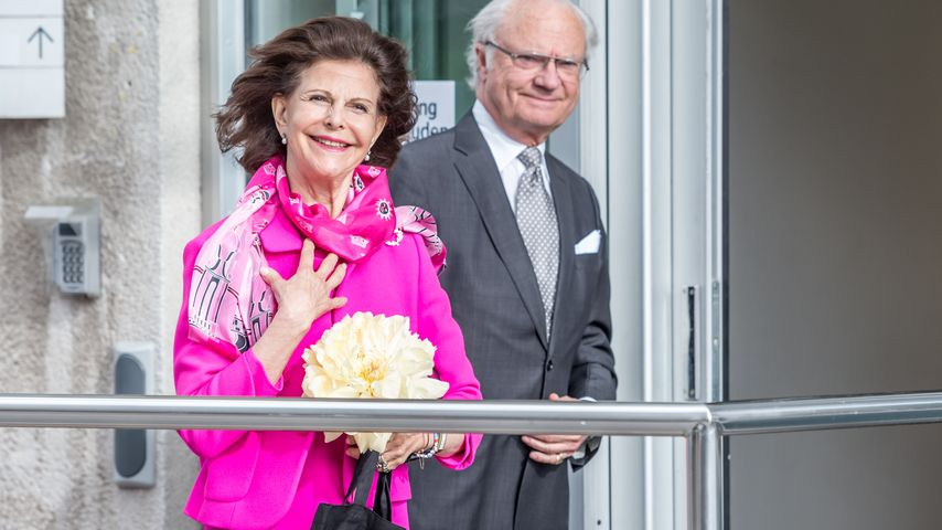 König Carl Gustaf & Silvia: 1. Besuch bei ihrem Enkelsohn