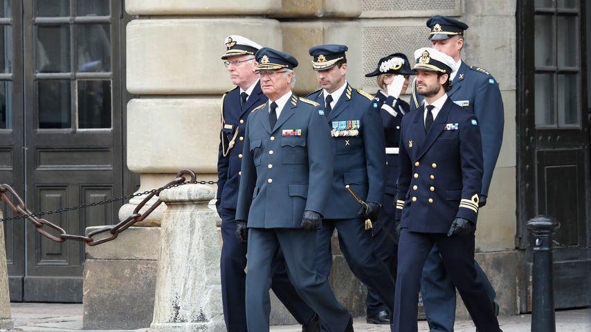 König Carl Gustaf und Prinz Carl Philip von Schweden