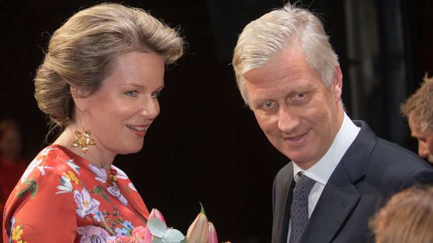 Königin Mathilde und König Philippe im Oktober 2018 in Antwerpen