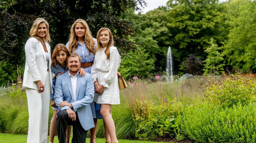 Königin Máxima und König Willem-Alexander mit ihren Töchtern
