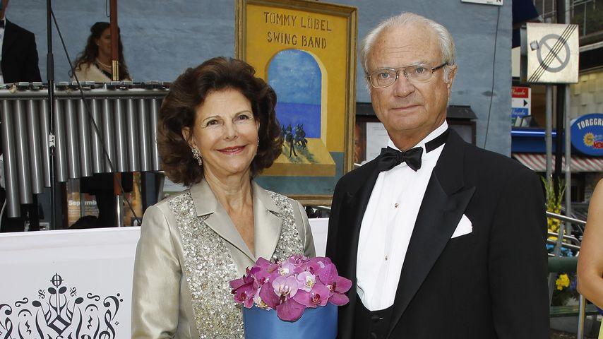 Königin Silvia von Schweden und ihr Mann Carl Gustaf im August 2012