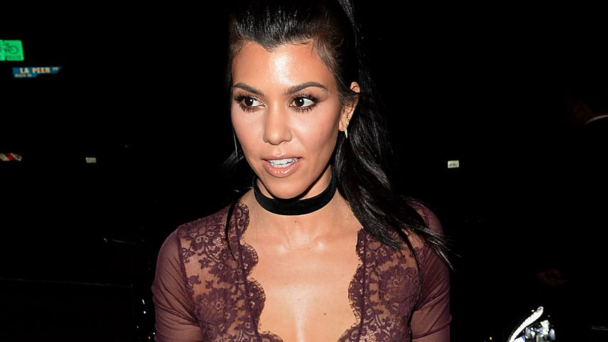 Heiß wie nie: Kourtney Kardashian sexy im Transparent-Top
