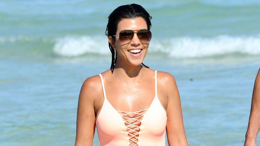 Kourtney Kardashian in Miami Beach