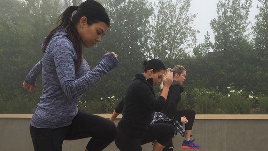 Sister-Workout: Kourtney Kardashian bekämpft Liebeskummer