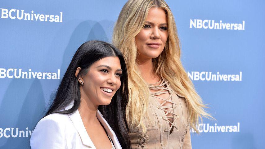 Kourtney und Khloe Kardashian bei der NBC Upfront Presentation in New York 2016
