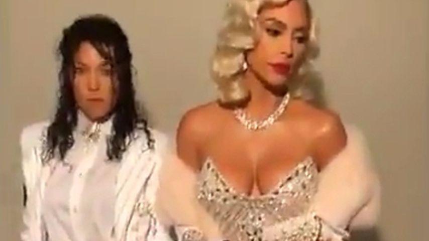 Mega-Kostüm: Kourtney & Kim als Michael Jackson und Madonna!