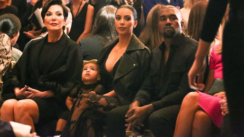 Kris Jenner, North West, Kim Kardashian, Kanye West (v.l.)