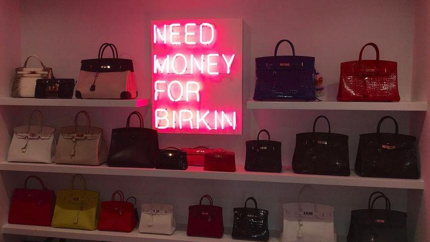 Kris Jenners Schrank für ihre Birkin-Bag-Sammlung