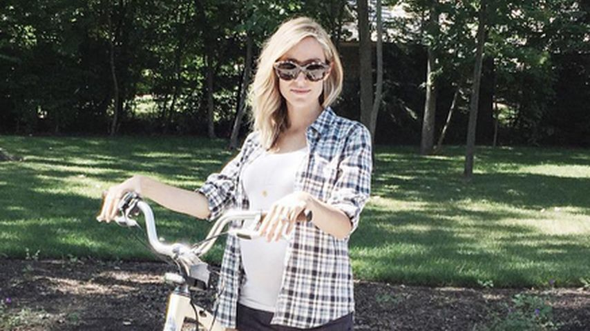 Bike-Girl mit Baby-Kugel: Kristin Cavallari in Family-Laune