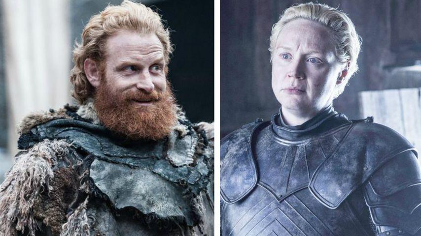 Kristofer Hivju als Tormund und Gwendoline Christie als Brienne