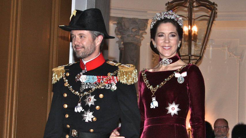 Kronprinz Frederik und Kronprinzessin Mary beim Neujahrsempfang 2014