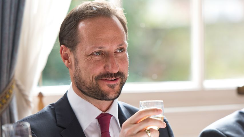 Kronprinz Haakon während eines Staatsbesuchs in London