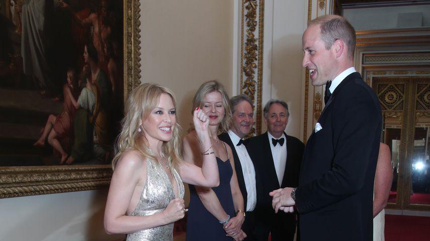 """Kylie Minogue und Prinz William bei einem """"Charity-Event"""" im Buckingham Palace, Juni 2018"""